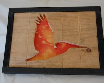 Sea Gull Framed Cutout Wall Art