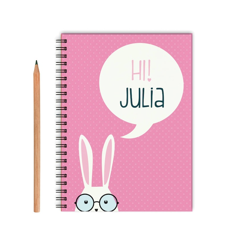 A5 Journal Bunnies Hardback Notebook by The Art File