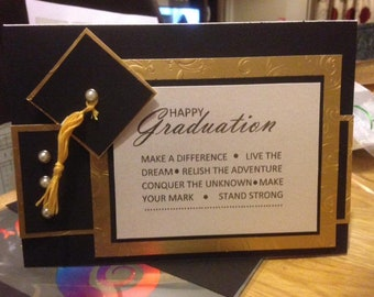 Luxury Personalised Graduation Card