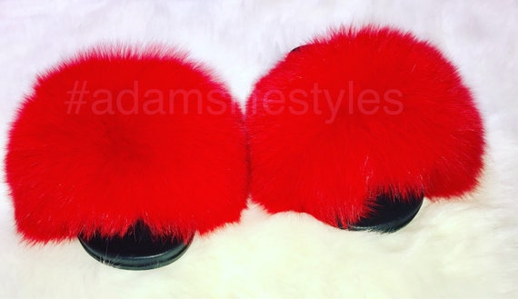 977120bcef0b Available in all sizes Nike real luxury fox fur slider