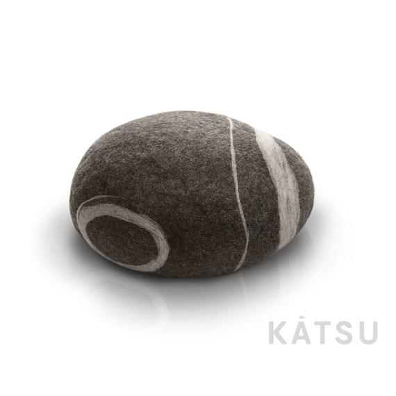 Plush Toy Pebble Stone Throw Pillow