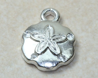 Starfish Fossil charm, solid sterling silver charm. Perfect as necklace or on charm bracelet. Marine Life Collection