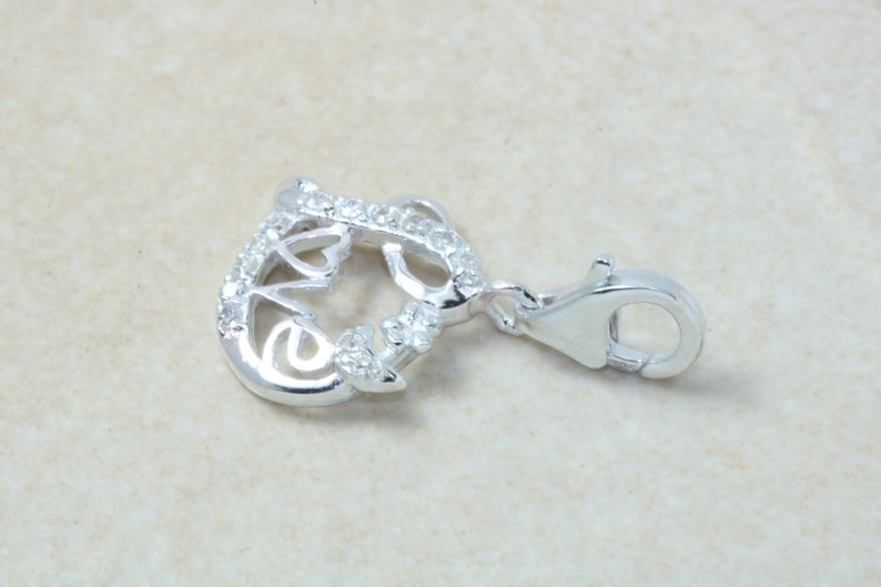 Made from Solid Cast Sterling Silver. Love Heart Silver Charm
