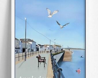 Appledore North Devon England A4 Print