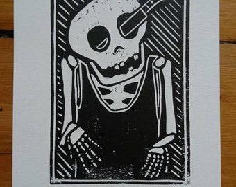 Could Be Worse Linocut Print