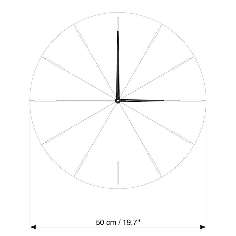 Horloge de mur surdimensionnée, grande horloge de mur, horloge en bois, horloge en bois pour lhorloge minimaliste de mur
