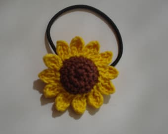 Sunflower Hair Accessories, Hair Accessories for Girls, Crochet Sunflower Hair Tie, Women's Hair Tie, Girl's Hair Tie, Gift for Girls