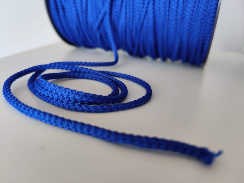 4mm macrame cord crochet rope Craft projects crochet yarn BLUE cord macrame supplies craft supplies 50m rope