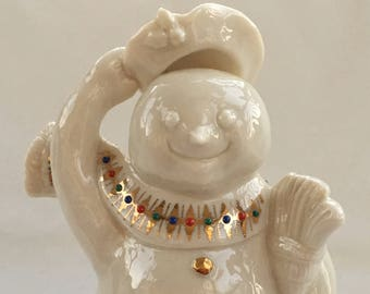 1995 Vintage Lenox China Jewels JOLLY SNOWMAN Snow People FIGURINE