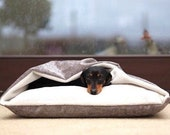 The Doggy Den Bed, Luxury Dog Bed from Designed for Dogs, Cave Dog Bed, Snuggle Bed, Terrier Burrow, Terrier Hole, Fleece, Nest