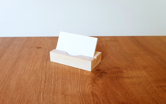 wood contact card holder wood business card stand wooden card etsy