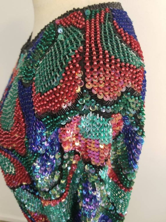 Heavily Glass Stained Trophy Piece Jacket Vintage Beaded Sequin and ZPUZ1dq