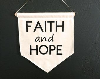Faith and Hope Wall Banner