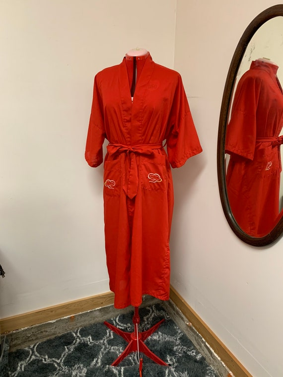 1950s Cotton Health Chinese Vintage Burlesque Robe
