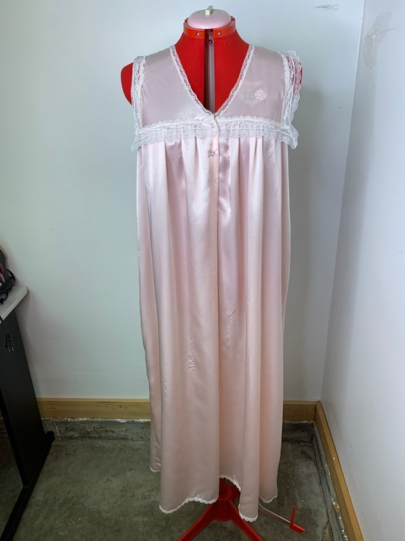 70s Christian Dior Pink Lingerie Nightgown!
