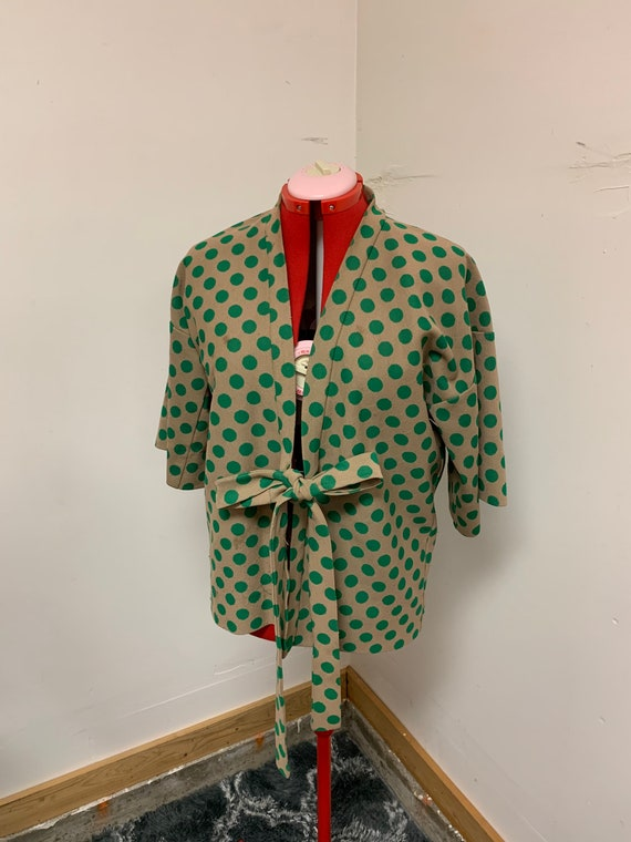 1950s Polka Dot Housecoat
