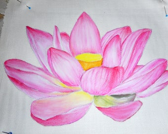 Fabric painting tutorial, how to paint on fabric, course to paint a flower, how to paint flowers, to learn fabric painting