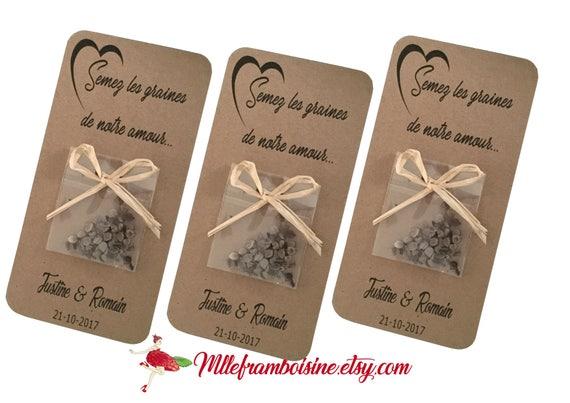 Cadeau Invites Pour Mariage Sachet De Graines A Planter Mariage Nature Semez Les Graines De Notre Amour Personnalisation Gratuite