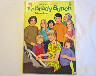 Vintage Brady Bunch Coloring And Activity Book 1974 1970s TV Family Marcia Greg Alice Cindy