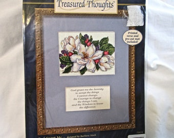 New Counted Cross Stitch Kit Serenity Prayer Dimensions God Grant Me . . .72434 Embroider 8 x 10 Floss Thread Matt