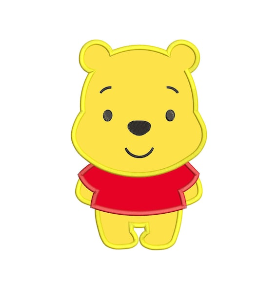 Winnie The Pooh Applique Embroidery Design Instant Download Etsy