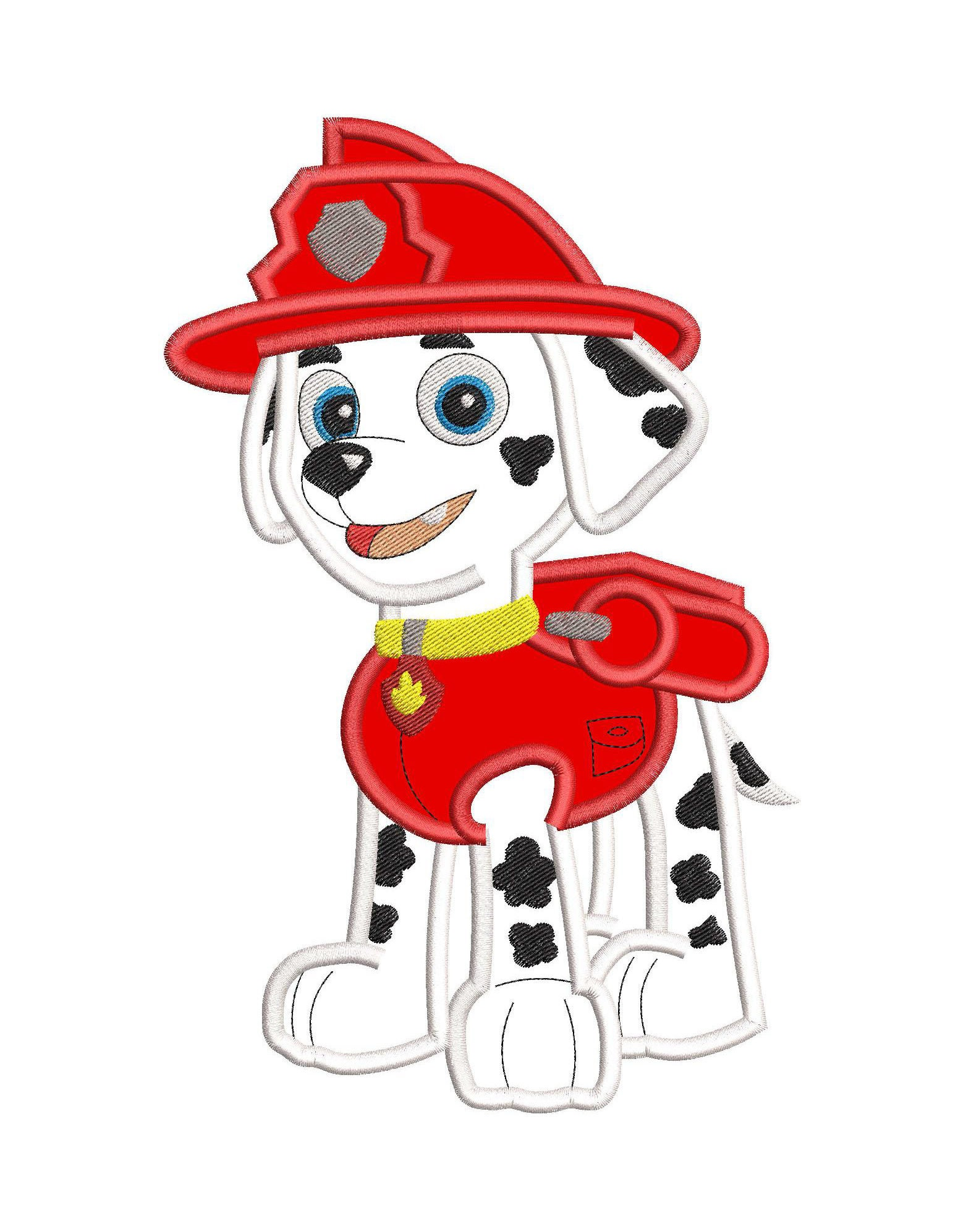 Marshall Paw Patrol Applique Embroidery Design INSTANT