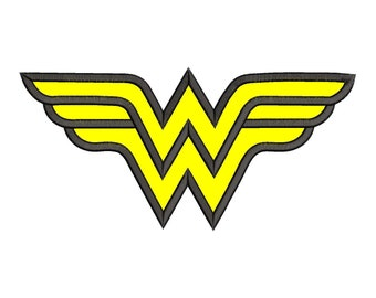 Wonder Woman Applique Embroidery Design - Instant Download