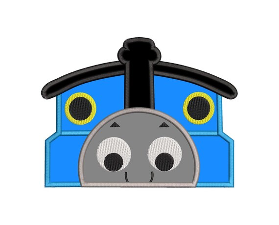 Thomas The Train Applique Embroidery Design Instant Download Etsy