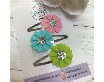 Daisy Flower Snap Clips