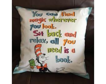 Magic and a Good Book Pillow