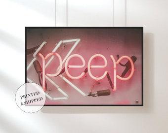 Neon Sign Print, Pink Neon Print, Photography Print, Wall Art, art, Cool Print, Modern Print, abstract Print, Home Interior, Design, Light