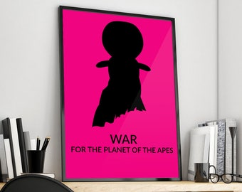 War for the Planet of the Apes | Minimal | doll | Alternative Film Poster Print Design | A0 A1 A2 A3 A4