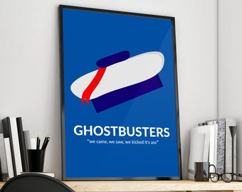 Ghostbusters | Stay Puff Marshmallow Man | Alternative Film Poster Print Design | A0 A1 A2 A3 A4