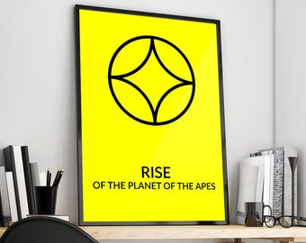 Rise of the Planet of the Apes | Minimal | Window | Alternative Film Poster Print Design | A0 A1 A2 A3 A4