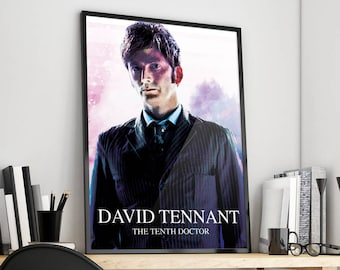 David Tennant | Doctor Who | The Tenth Doctor | Poster Print Design | A0 A1 A2 A3 A4