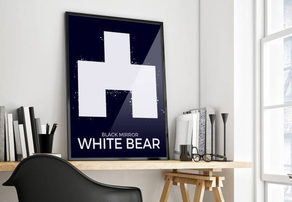 Spiegel weiß bär schwarz simpliastic minimalistische etsy