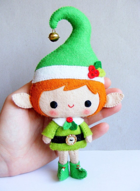 Nuvolina Handmade has the cutest felt elf doll sewing pattern. The details are gorgeous!