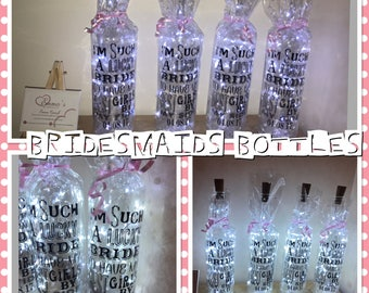 Bridesmaid light up bottle