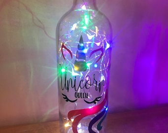 Unicorn light up Bottle
