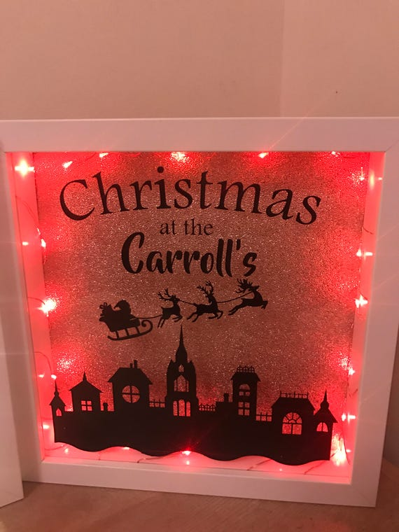 Christmas Light Up Frame Etsy