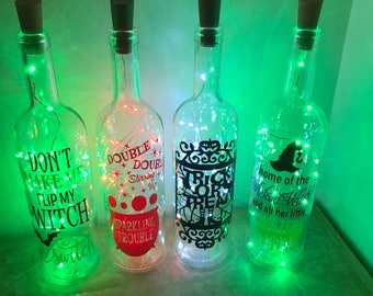 Halloween light up bottles