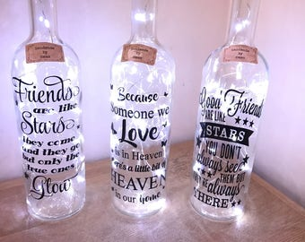 Friends light up bottle