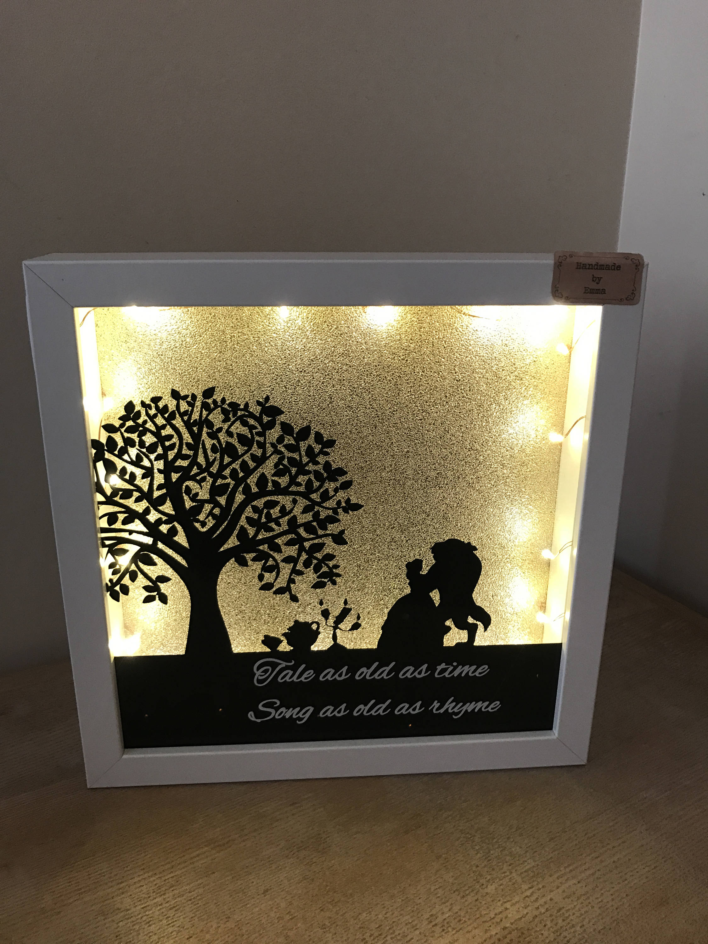 Beauty And The Beast Light Up Frame Etsy