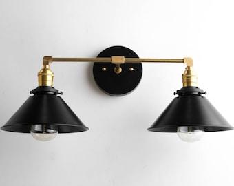 Vanity lights brass vanity lighting edison bulb light black brass vanity light bathroom wall lamp modern fixture mirror lighting edison bulb fixture aloadofball Image collections