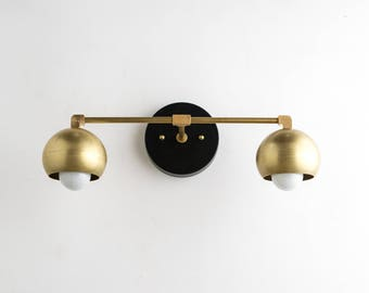 black bathroom lighting fixtures. Gold Vanity Lights - Bathroom Lamp Mid Century Brass Black  Modern Fixture Black Bathroom Lighting Fixtures