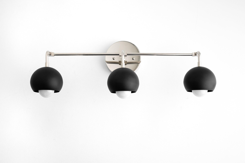 Midcentury Modern Bathroom Lighting Orb, Modern Bathroom Light Fixtures Black And White