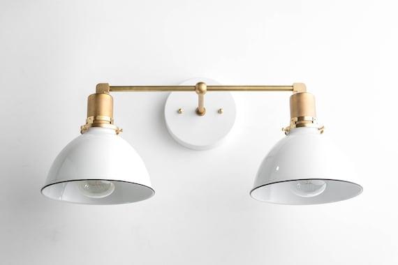 Attirant Bathroom Wall Light Industrial Vanity Light Brass Light | Etsy
