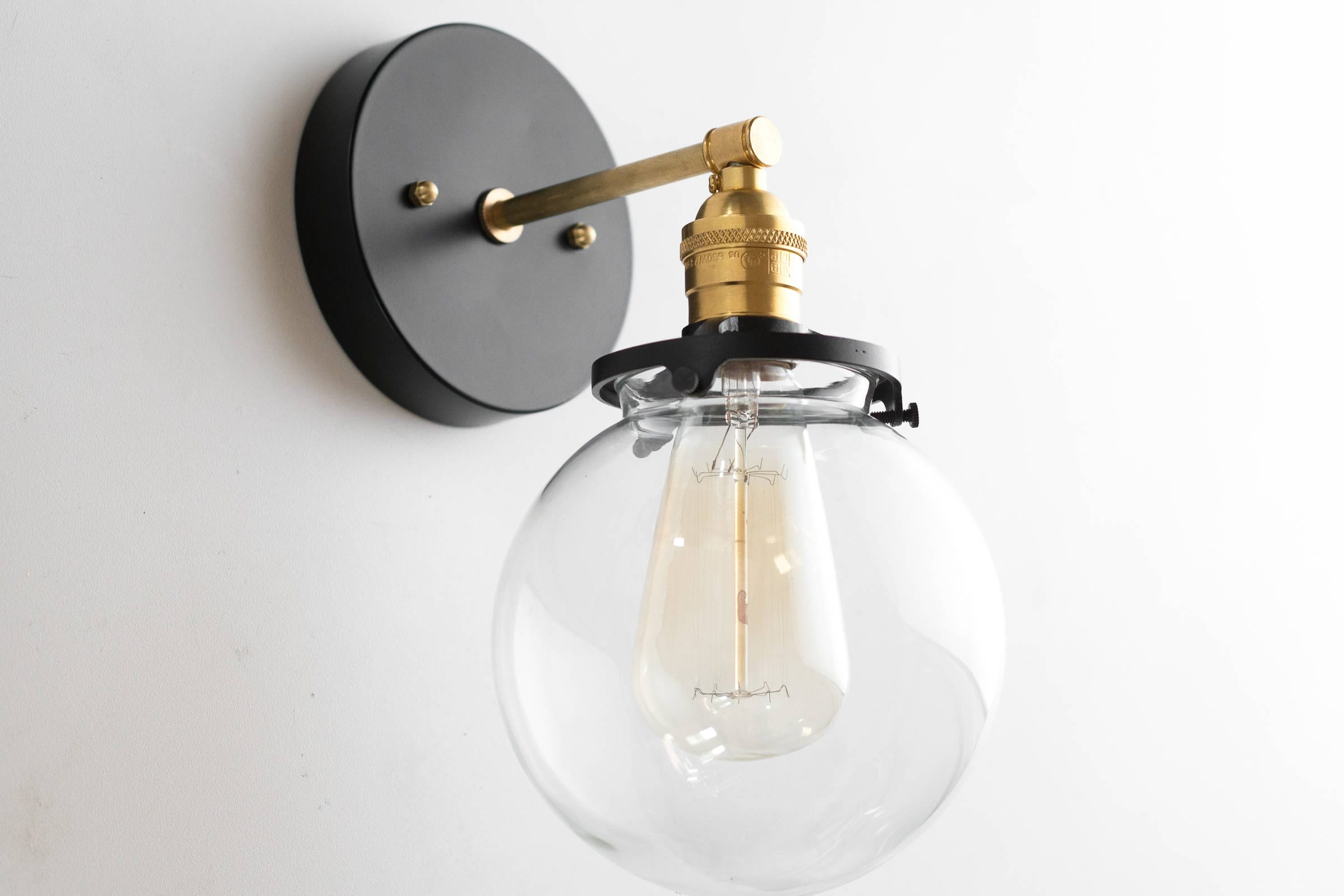 Modern farmhouse wall sconces brass sconce light edison wall lighting mid century modern