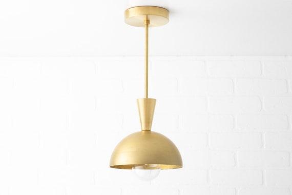 Pendant Lighting Brass Pendant Island Light Kitchen Etsy