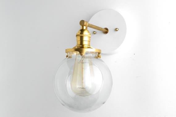 Globe en applique - salle de bain de lumière - Edison applique lumière -  luminaire en laiton - applique murale